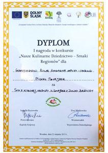 Dyplom - Smaki Regionów