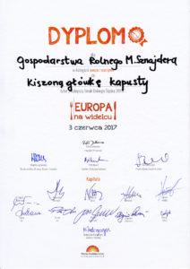 Europa na widelcu 2017 - Kiszona główka kapusty