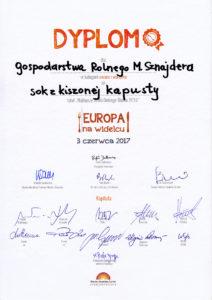 Europa na widelcu 2017 - Sok z kiszonej kapusty