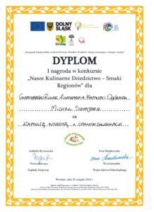 Dyplom - pierwsze miejsce
