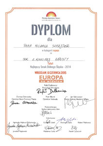 Dyplom - Europa na widelcu