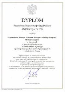 Dyplom AgroLiga 2018